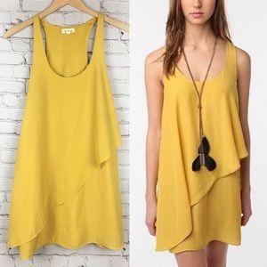 Silence + Noise | Yellow Mini Tank Dress